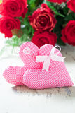 Deux coeurs pour le jour de valentines Image libre de droits