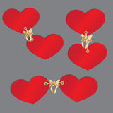 Deux coeurs réglés dans a  Photo libre de droits