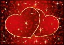 Deux coeurs romantiques illustration stock
