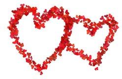 Deux coeurs rouges illustration de vecteur