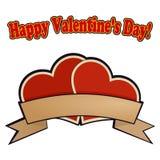 Deux coeurs rouges pour la Saint-Valentin Photos libres de droits