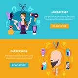 Deux coiffeur Banner Set Image libre de droits
