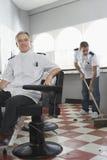 Deux coiffeurs avec un plancher rapide Photo stock