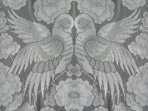 Deux colombe, tissu blanc Image stock