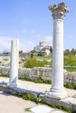 Deux colonnes du grec ancien Photographie stock libre de droits