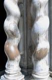deux colonnes tordues Photographie stock
