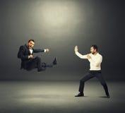 Deux combattants d'affaires Images libres de droits