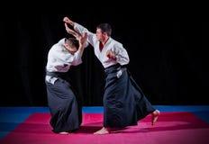 Deux combattants d'arts martiaux image stock