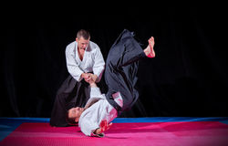 Deux combattants d'arts martiaux photo stock