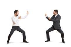 Deux combattants drôles en usage de Forman Images libres de droits