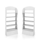 Deux compteurs blancs avec des étagères en métal Photographie stock libre de droits