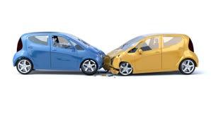 Deux concepts d'accident de voiture/sécurité Photographie stock