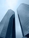 Deux constructions modernes grandes Photos stock