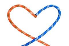 Deux cordes dans la forme du coeur Photos libres de droits