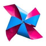 Deux couleurs de moulin à vent Image stock