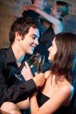 Deux couples au restaurant Photo libre de droits