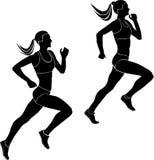 Deux coureurs d'athlètes de femmes Photographie stock