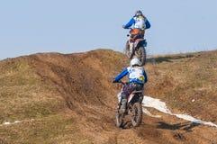 Deux coureurs d'enduro Photographie stock libre de droits