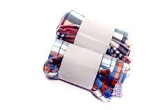 Deux couvertures sur un fond blanc photos libres de droits
