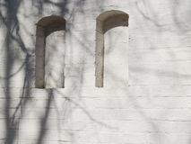 Deux créneaux Briques plâtrées Photos libres de droits