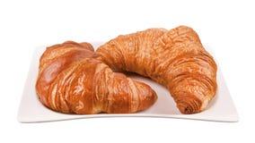 Deux croissants Photographie stock libre de droits