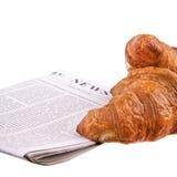 Deux croissants Image libre de droits