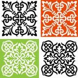 Deux croix décoratives noires et blanches Image stock