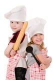 Deux cuisiniers d'enfants Images stock