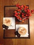 Deux cuvettes de café Image libre de droits