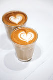 Deux cuvettes de café Photos stock