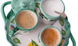 Deux cuvettes de café express photo libre de droits