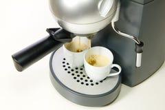 Deux cuvettes de café express photos stock