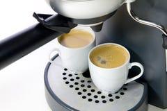 Deux cuvettes de café express Photo stock