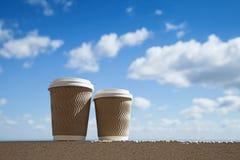 Deux cuvettes de caf? photos stock