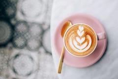 Deux cuvettes de cappuccino Images stock