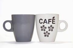 Deux cuvettes de coffe Images stock