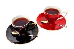 Deux cuvettes de thé Images libres de droits