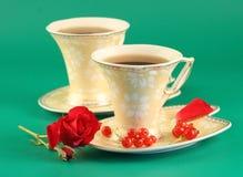 Deux cuvettes de thé Photographie stock