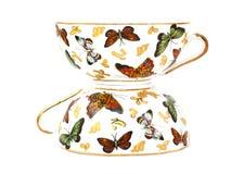 Deux cuvettes de thé Image libre de droits