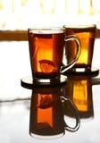 Deux cuvettes de thé Photographie stock libre de droits