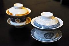 Deux cuvettes de thé chinoises Photo libre de droits