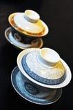 Deux cuvettes de thé chinoises Photos libres de droits