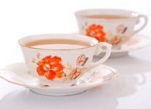 Deux cuvettes de thé Photos libres de droits