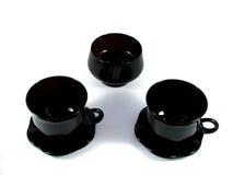 Deux cuvettes noires Images libres de droits
