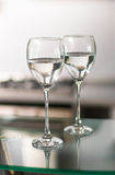 Deux cuvettes pour le vin Image stock