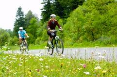 Deux cyclistes Photo stock