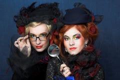 Deux dames. Image stock