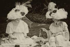 Deux dames de ` de Belle Epoque de ` photographie stock libre de droits