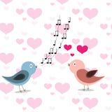Deux dans des oiseaux d'amour Photographie stock libre de droits