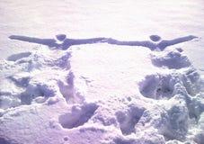 Deux dans la neige Photo libre de droits